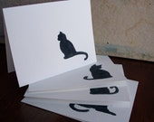 Black Cat Cards, set of 4