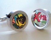 Groomsmen Gift - Cufflinks - Wolverine X-Men - Marvel Comics - Silver Cufflinks - Groom - Geekery - Gift for Him