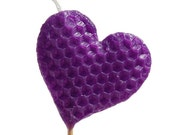 Heart Shaped Beeswax Candle - Purple
