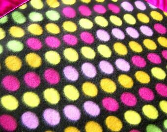 Fuchsia Dots Fleece Cozy - Pet Blanket