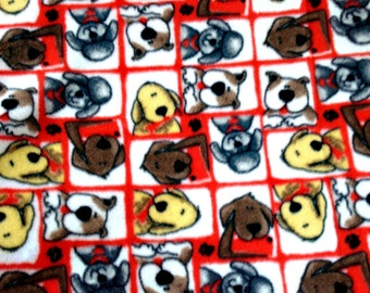 Made to Order Cozy: Eclectic Pooches Fleece Pet Blanket
