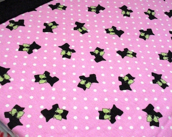 I Heart Scotties Cozy - Reversible Pet Blanket