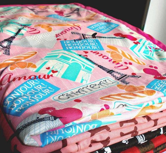 Pink in Paris Cozy - Reversible Pet Blanket