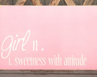 Girl Definition Sign - Nursery Sign
