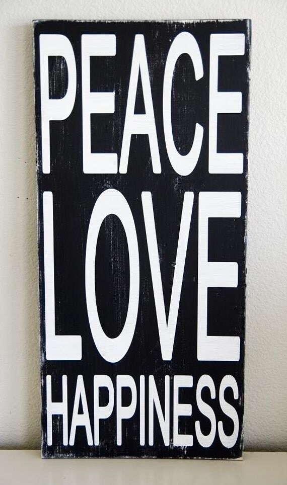 Typography Art Sign Peace Love Happiness