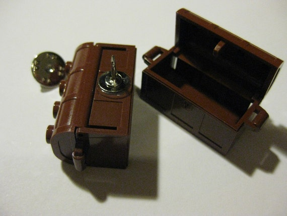 Classic LEGO Treasure Chest Pin - Comes With Gift Pouch