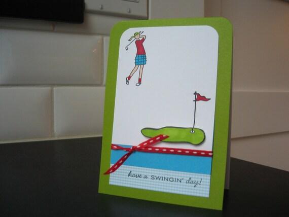 Birthday Card, Birthday Card for Golfer, Any Occasion Greeting Card for Golfer