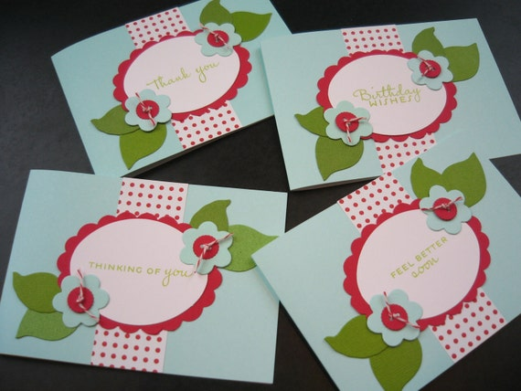 Greeting Card Set 4 Cards Multi Occasion Card Set