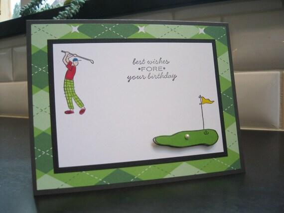 Birthday Card, Birthday Card for Golfer