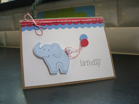 Birthday Card, Elephant Birthday Card