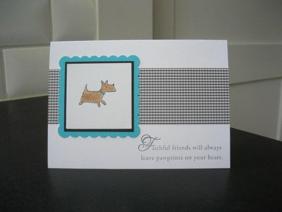 Pet Sympathy Card, Dog Sympathy Card