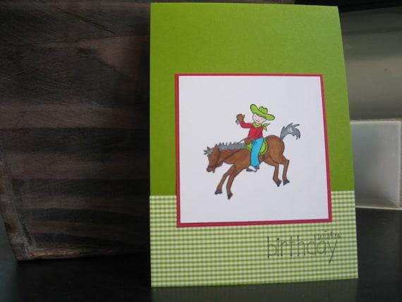 Cowboy Birthday Card for Little Boy