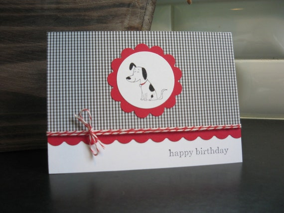 Dog Birthday Card Dalmatian