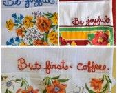Custom Embroidered Hankie Dish Towel