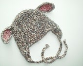 Lamb Baby Earflap Hat Sheep winter hat for newborn and baby--Custom Colors Available