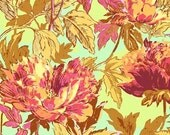 Amy Butler Fabric - Soul Blossoms Twilight Peony- Saffron - 1 Yard