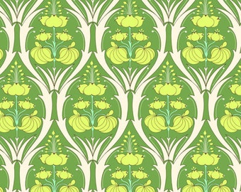 Amy Butler Soul Blossoms Passion Lily Fabric - Fern - 1 Yard