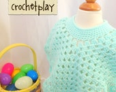 Coming home poncho size 1-2 Beautiful Mint Green Pastel Green 12 months 2T