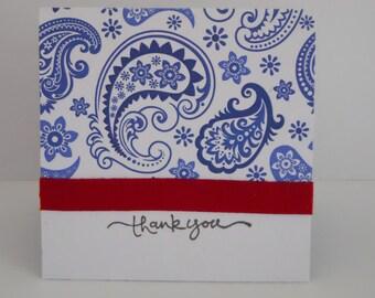 Thank You Handmade 3x3 Mini Cards, Set of 6