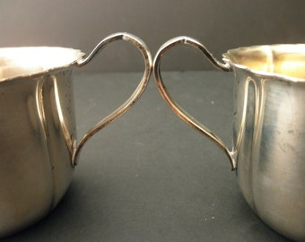 vintage Wm Rogers silverplate -sugar bowl and creamer