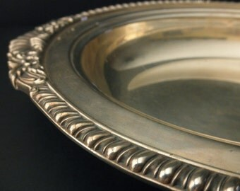 vintage Burche silverplate oval serving dish- vegetable