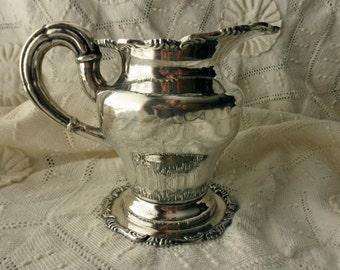 antique Peruvian sterling silver creamer