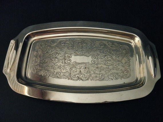 vintage silver plate tray- Art Silver Co.
