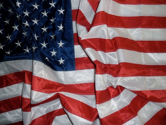 3' x 5' nylon American flag-Fourth of July, Memorial Day