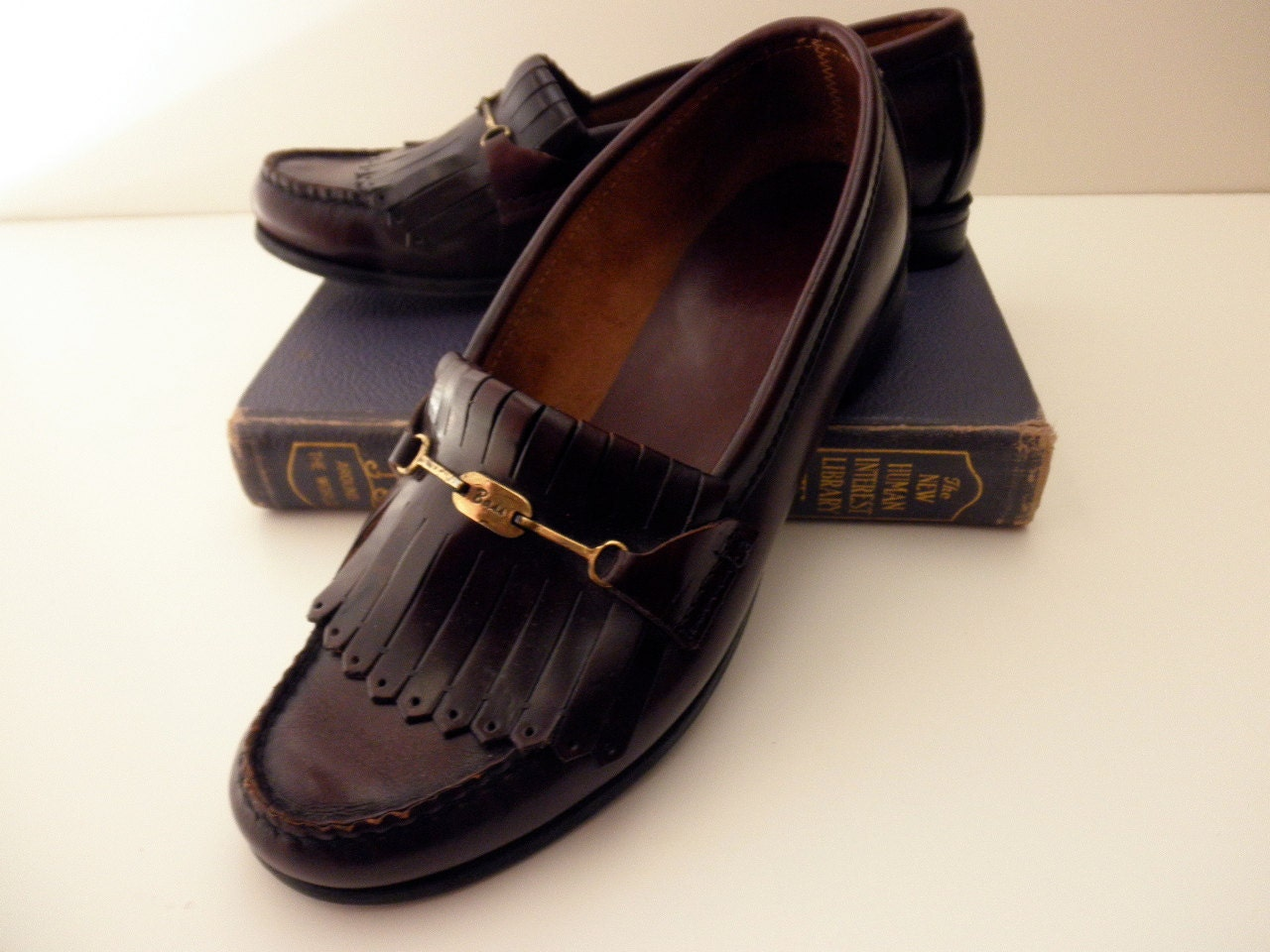 vintage Bass burgundy penny loafers-women's size 7 C
