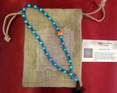 Mala bracelet Chakra--Japanese Miracle bead-5th CHAKRA - Throat Chakra (Visuda - purification)