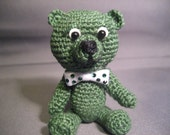 FREE SHIPPING  St. Patrick's Day Thread Artist Bear