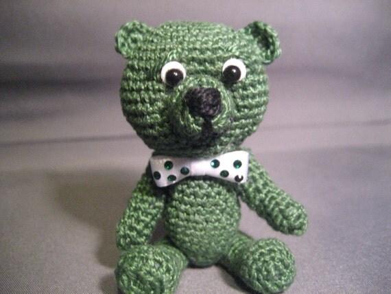 FREE SHIPPING  St. Patrick's Day Thread Artist Bear