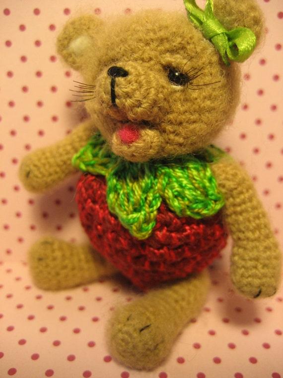 FREE SHIPPING Miniature Thread Artist Bear