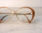 oversized Italian vintage peach glasses