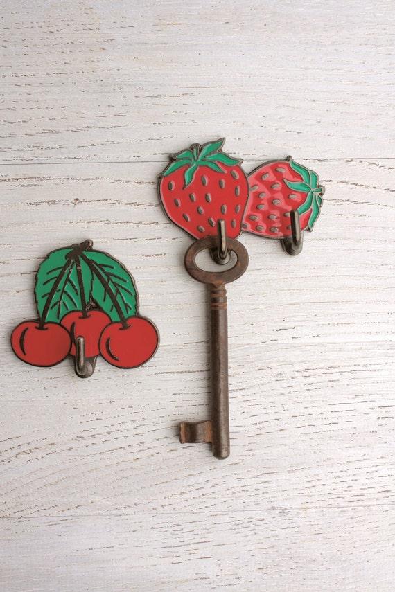 strawberries and cherries hooks - 70s Italian vintage