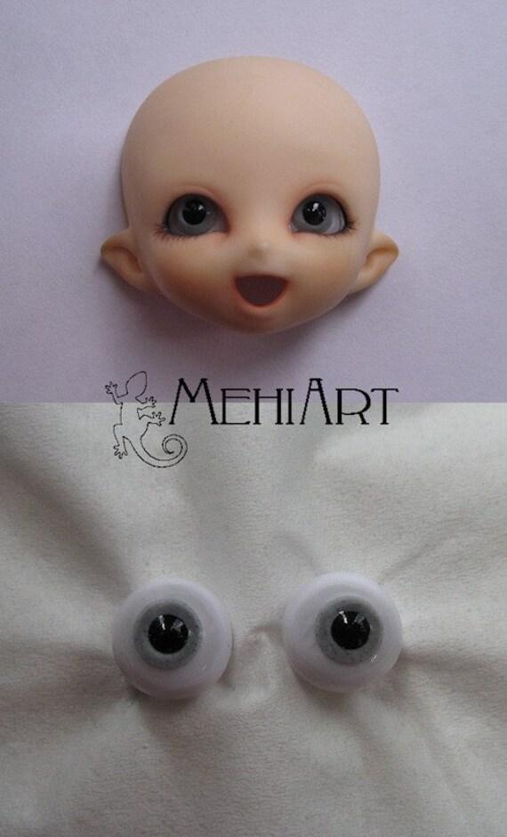 8mm PukiPuki eyes grey