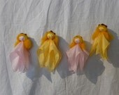 4 Spring Silk fairies in Waldorf style