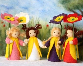 Primerose child / flower child / Root children / Waldorf Nature Table