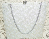 Reserved For Amber DO NOT PURCHASE Vintage 1950s Purse White Silver Brocade Wedding Clutch Bridal Handbag