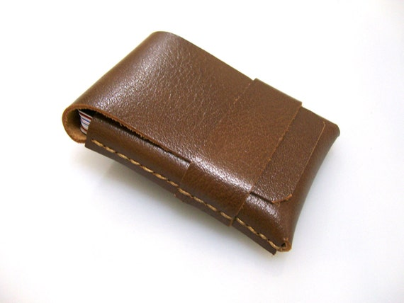 Leather Wallet-Men Wallet-Leather Card Holder-Buffalo Leather-%100 Handmade-Brown-Free Monogramming