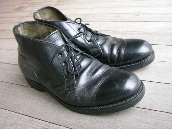 Vintage 1950 S 1960 S Men S Work Boots Black