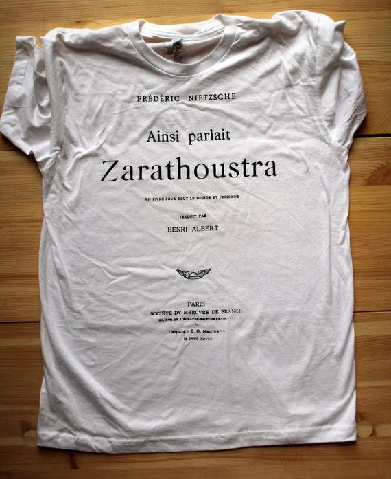 Nietzsche - Book Tee - MEN - White - Large