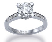 Diamond Engagement Ring With 0.50ct D-E/SI1-SI2 100% Clarity Enhanced Diamond