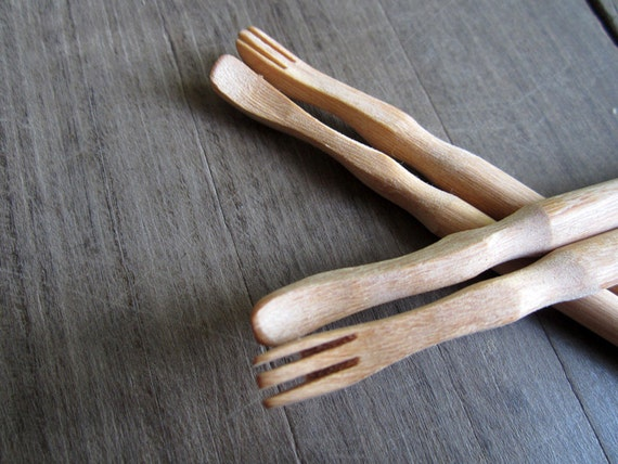 Wooden Chopsticks Unique Design Spoon and Fork On Top High Quality 100% Handmade