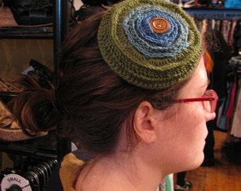 "Crochet Button Burst ""Hat"""