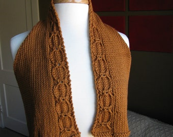 Knit Cable Vest--in antiqued gold cotton with racerback