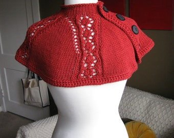King Charles Lace Cape Cowl Pattern--PDF