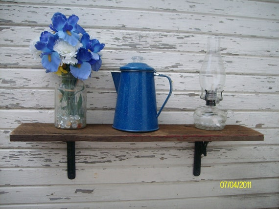 SALE  FREE shipping  in US Aged barn wood shelf