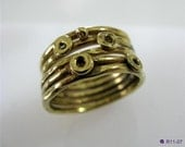 Gold Plated Sterling Silver Fabulous Ring
