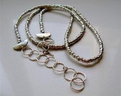Ethnic Handmade Organic Beads Necklace In Sterling Silver. OOAK Statement  Necklace By Amallias